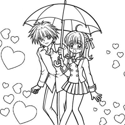 pareja de animes para colorear | coloriages mangas | Pinterest ...