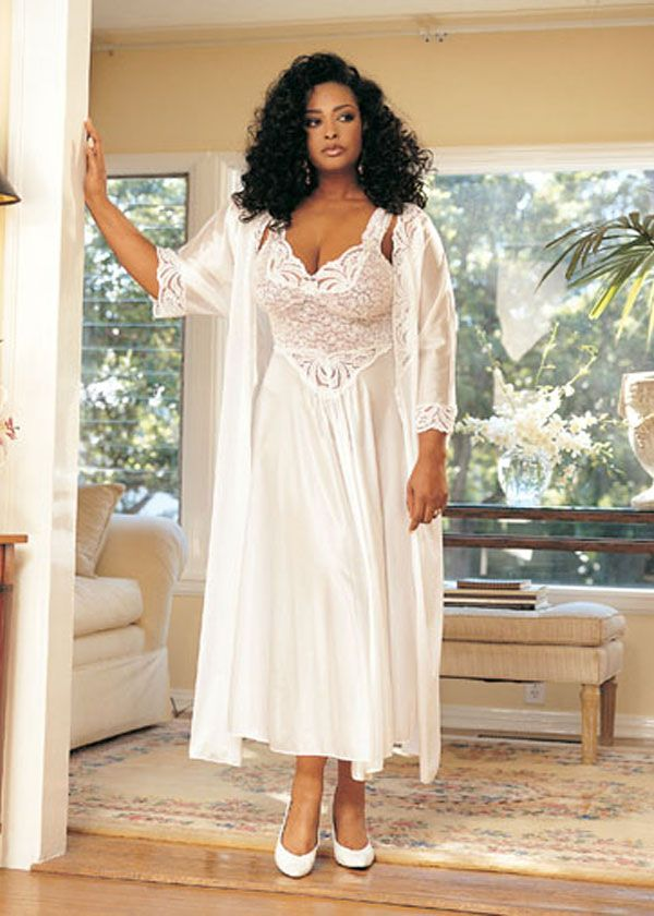 Plus size wedding night lingerie heavenly bridal robe for Corset for wedding dress plus size
