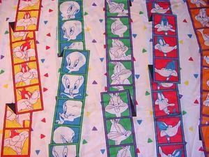 1993 Looney Tunes Twin Flat Sheet