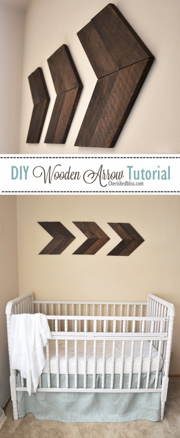 Diy living room decor ideas diy wooden arrow tutorial cool