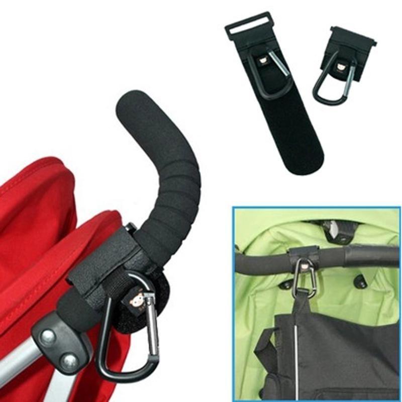 2pcs//set Baby Pushchair Stroller Clip Hook Buggy Pram Diaper Bag Hanger new