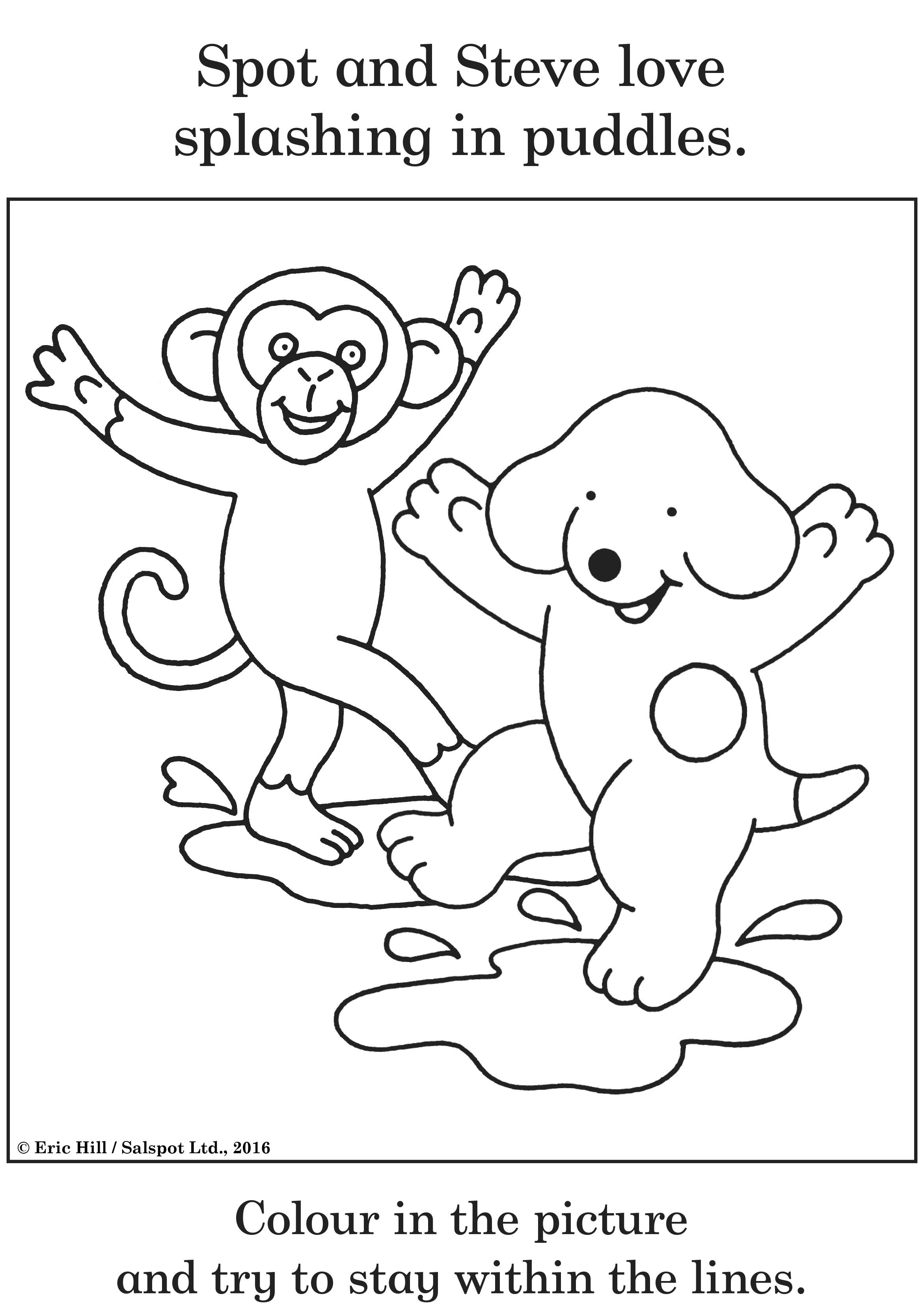 Coloring Sheets Dog Crafts Color [ 3324 x 2344 Pixel ]