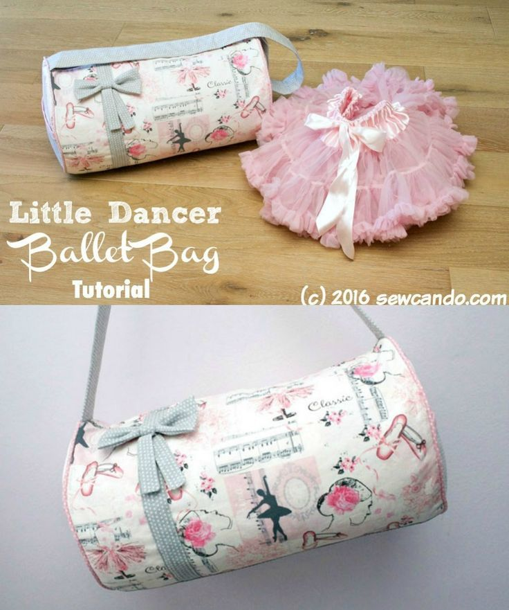 free ballet bag sewing tutorial for kids | Diy ballet | Pinterest