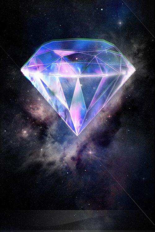 Galaxy Dimond Cute Pastel Wallpaper Diamond Wallpaper Art Galaxy purple diamond wallpaper