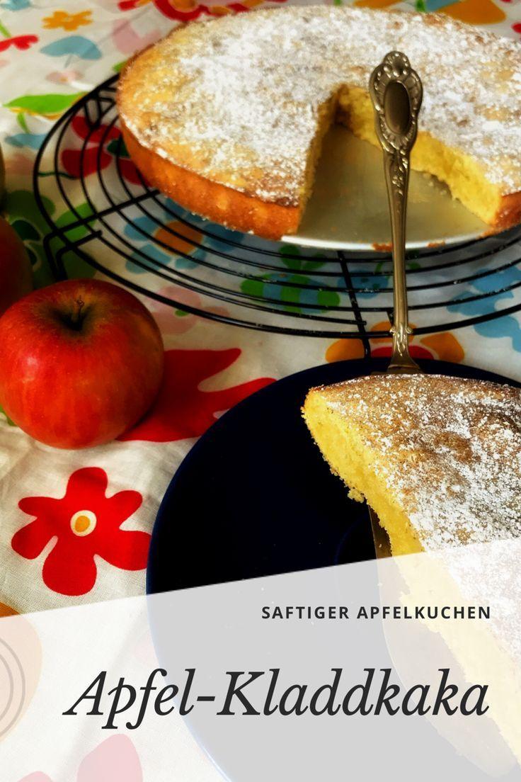 Schwedischer Apfelkuchen: Kladdkaka mit Äpfeln #blätterteigrosenmitapfel