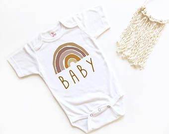Rainbow Baby Gender Neutral Baby Bodysuit Rainbow Baby Outfit