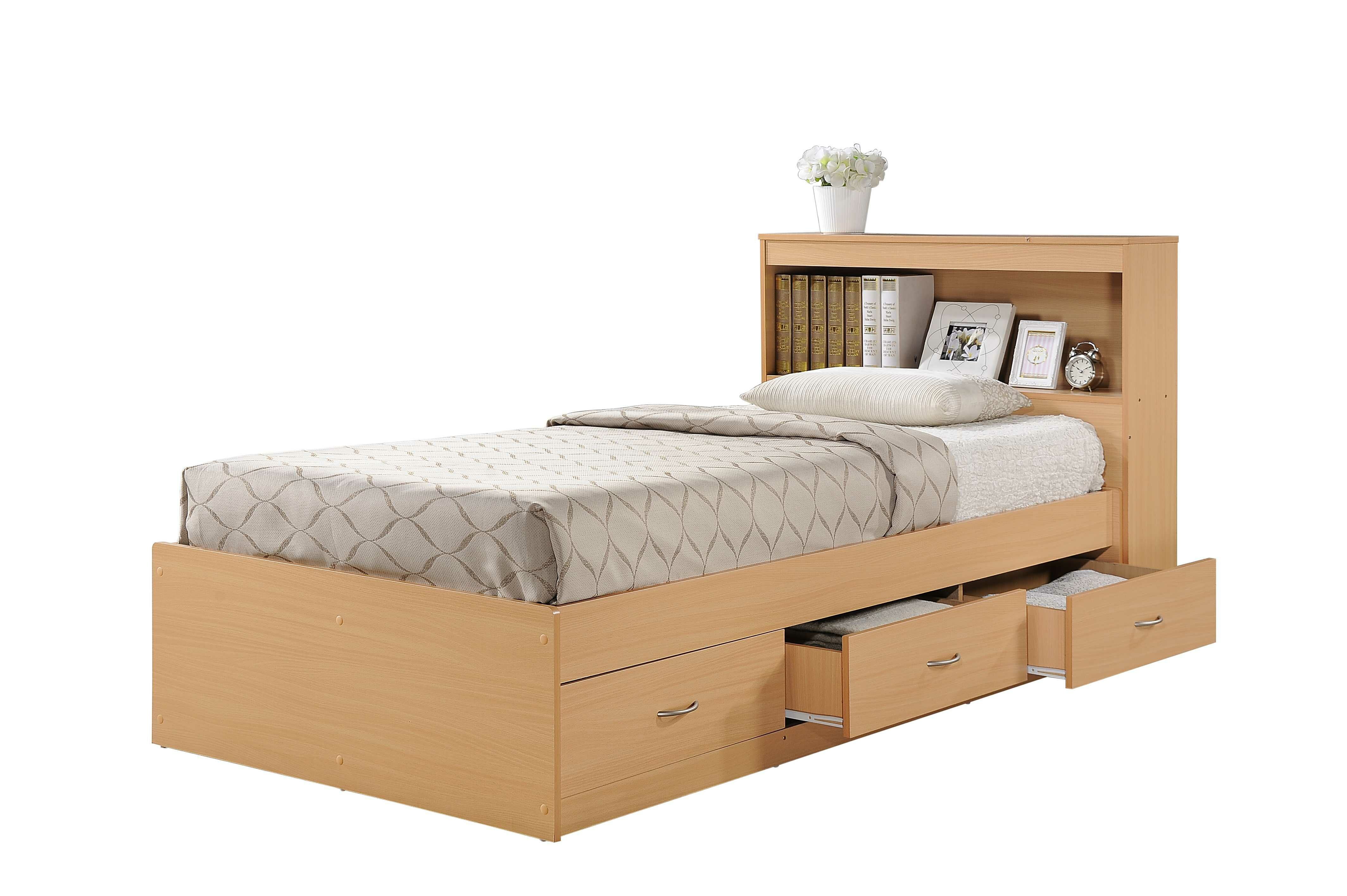 Twin size White Wood Daybed with PullOut Trundle Bed