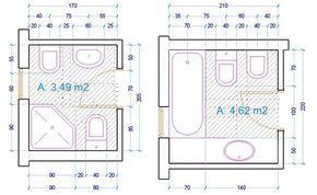 esempio dimensioni sanitari bagno | bagni | Pinterest | Ale