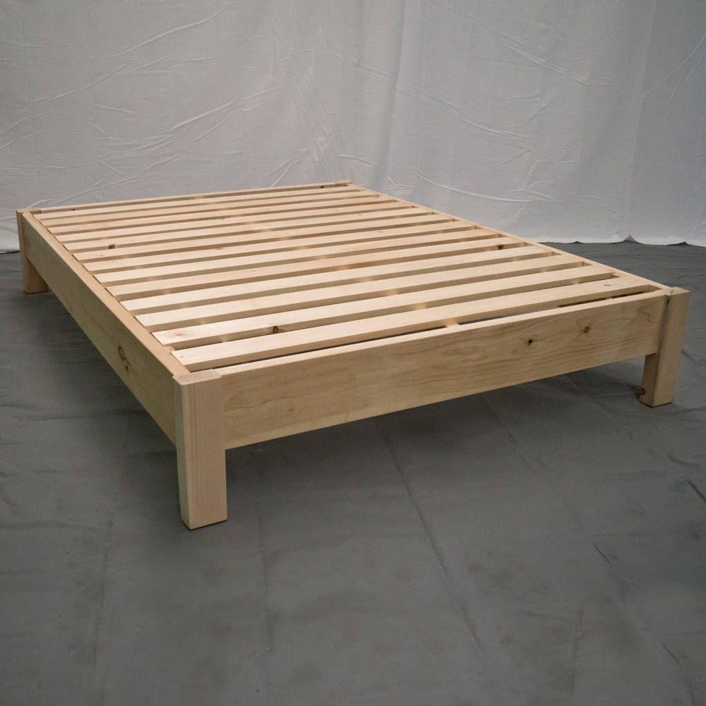 Best Unfinished Farmhouse Platform Bed Traditional Platform 640 x 480