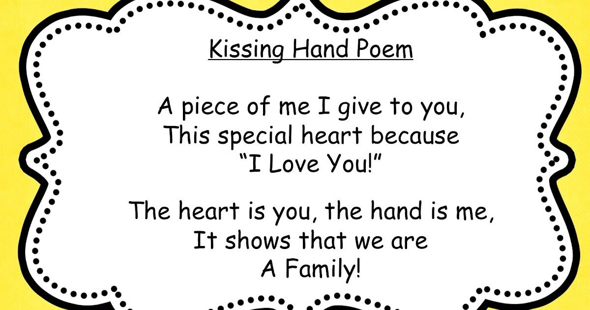 The Kissing Hand - Free Activity Booklet | Patio | Pinterest | The ...