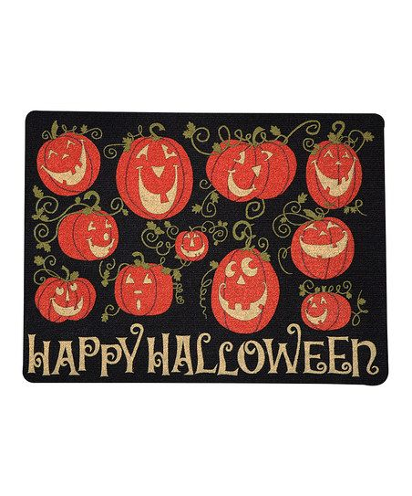 Pumpkin Gathering Outdoor Doormat @ zulilly