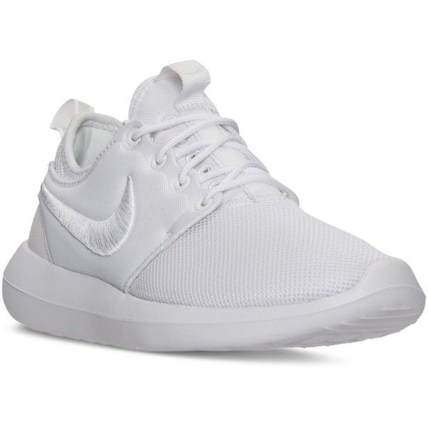 Nike Women's Roshe Two Breeze Casual Sneakers from Finish Line ($100) ❤  liked on