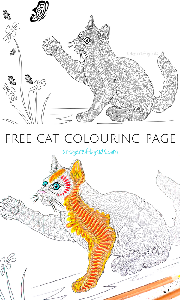 Cat Coloring Page Colouring Pages Pinterest Coloring Pages Cat Coloring Page And
