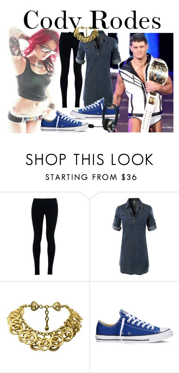"""WWE: Cody rodes"" by stream5 ❤ liked on Polyvore featuring NIKE, LE3NO, Chanel and Converse"