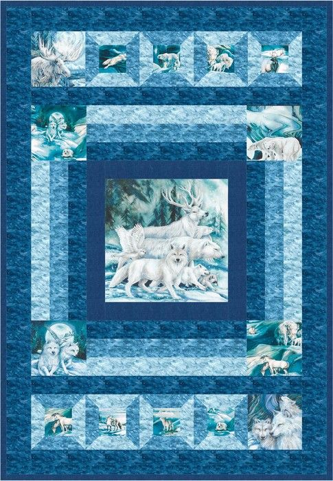 Winter Wonderland Designed By Robert Kaufman Fabrics Features Winter S Majesty By Jody Bergsma Shipping To S Quilt Patterns Free Picture Quilts Free Quilting