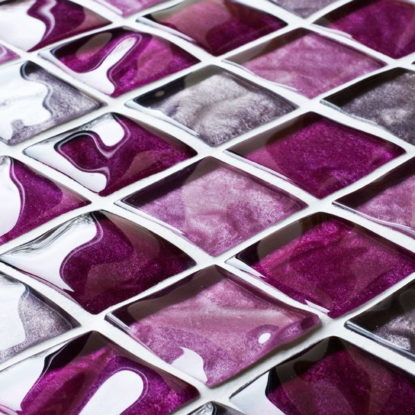 36 Purple Mosaic Bathroom Tiles Ideas And Pictures Purple Glass