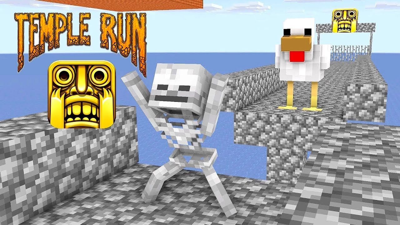 Monster School TEMPLE RUN CHALLENGE Minecraft