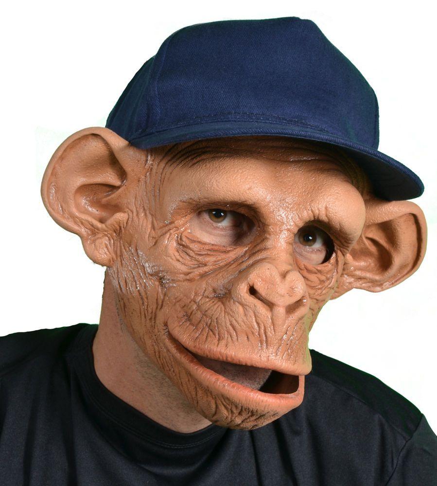Zombie Chimp Mask Halloween Ape Monkey Monster | Monkey, Masking ...