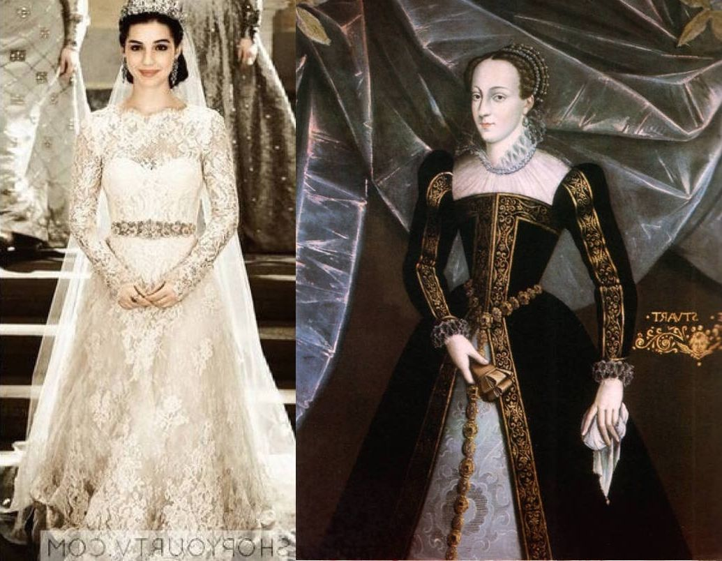 Queen mary stuart reign wedding dress wedding dress for Reign mary wedding dress