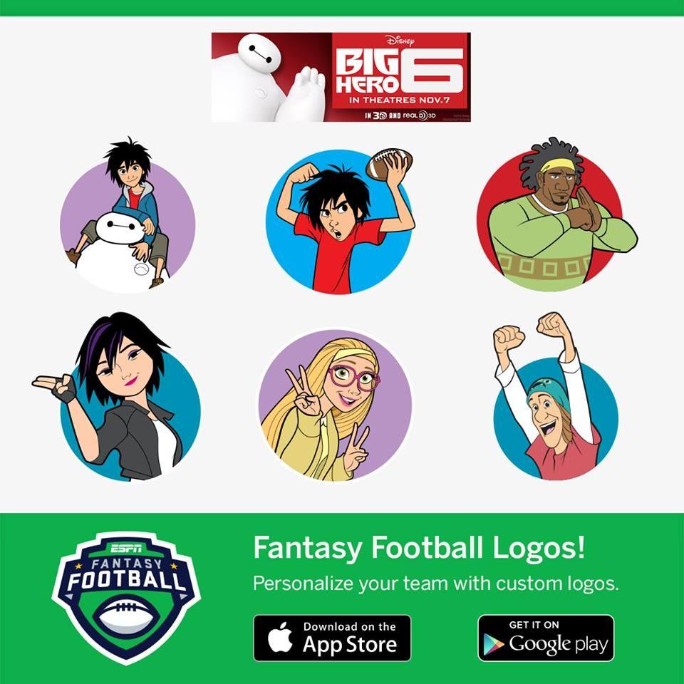 Big Hero 6 Icons For Espn Fantasy Football App Fantasy Football