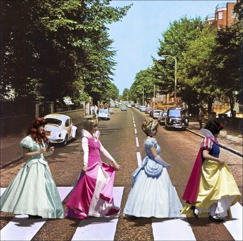 some of my fav things... London (Abbey road), the beatles (abbey road symbolism), and disney princesses :)