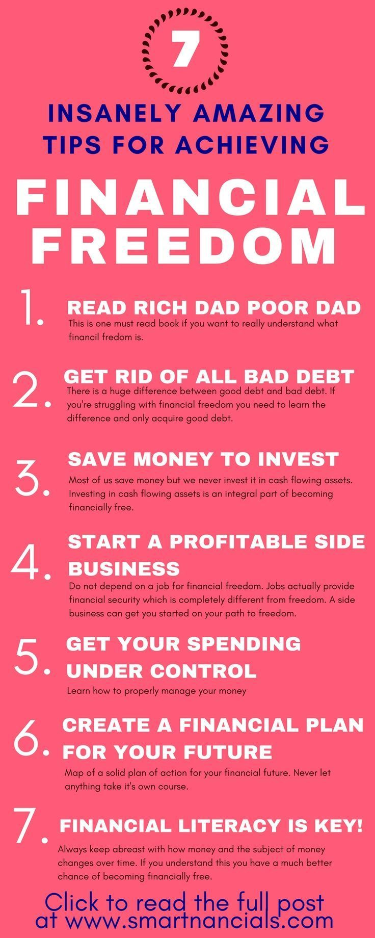 7 Insanely Amazing Tips For Achieving Financial Freedom