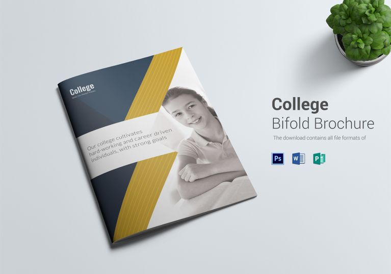 College Brochure Template  Formats Included  Ms Word