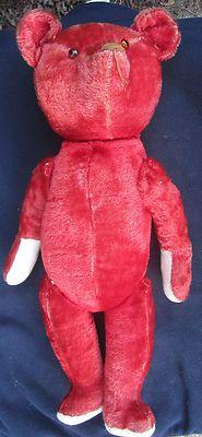 "24"" Antique 1910 Red Teddy Bear"