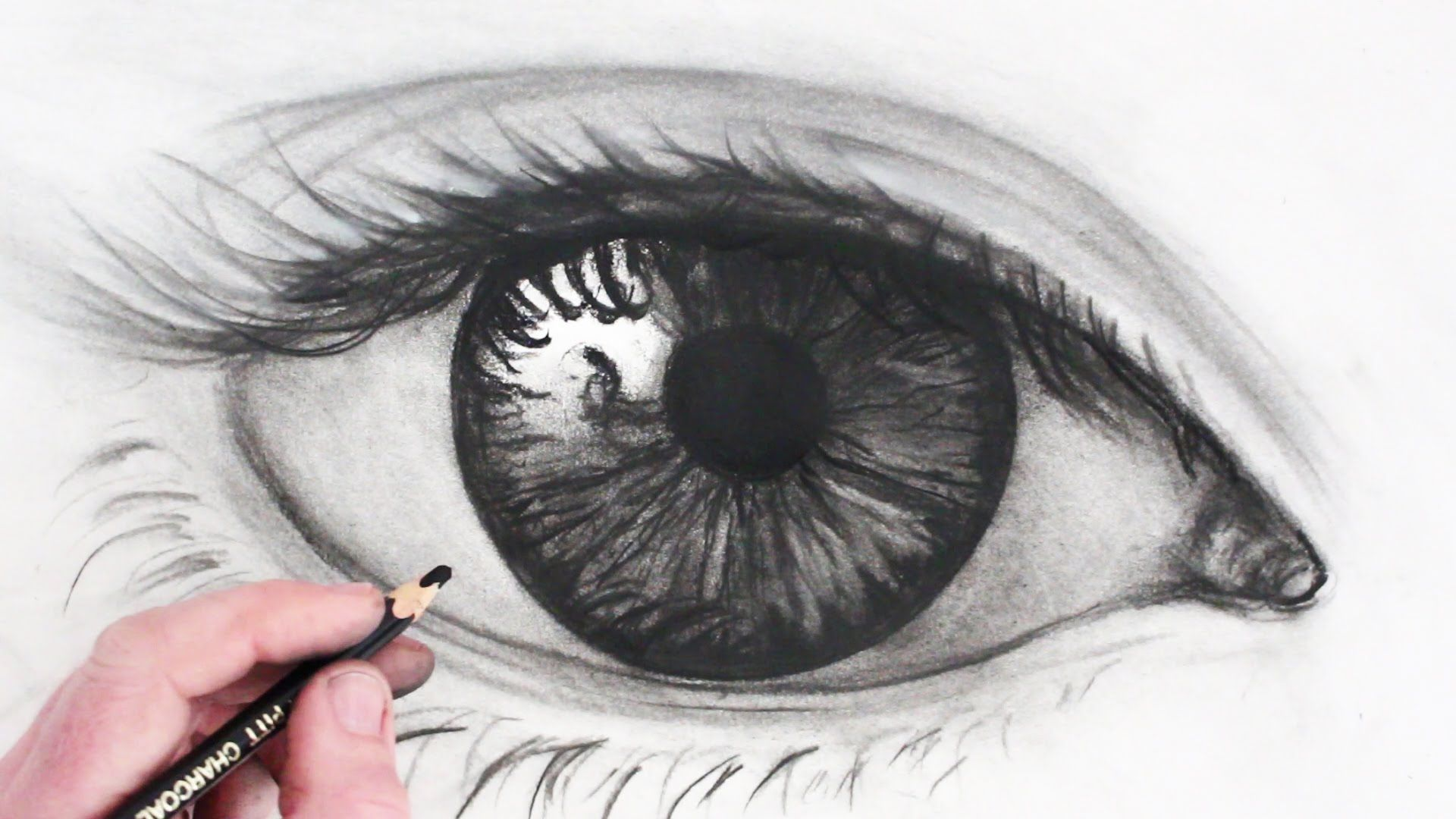 Line Drawing Eye : How to draw a realistic eye simple youtube narrated art
