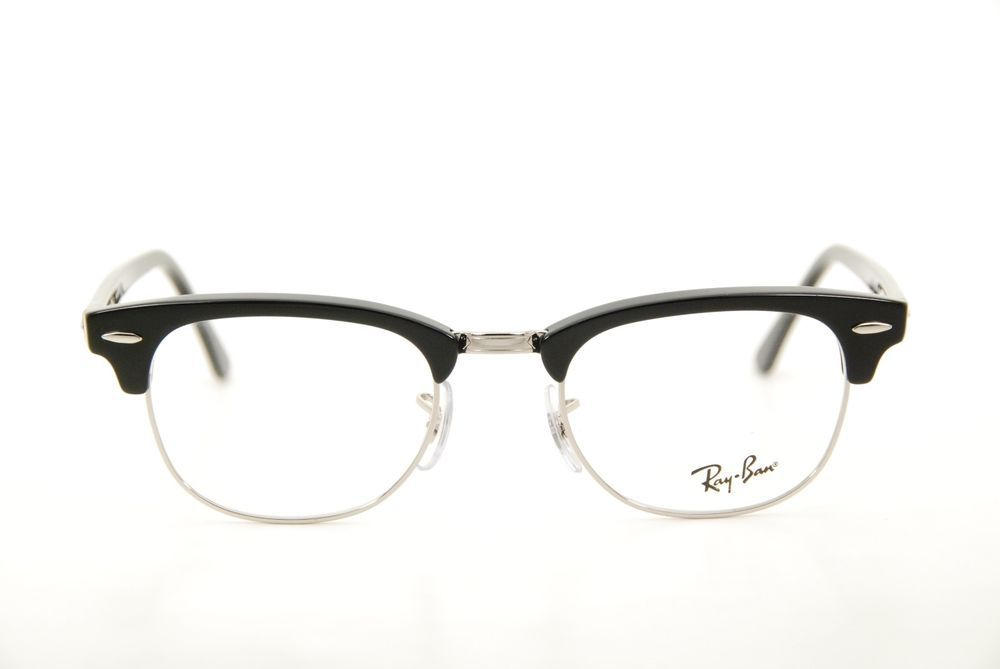 New Authentic Ray Ban RB 5154 2000 Black Silver 49mm Eyeglasses Frames RX ( eBay Link) 6b22813510bc