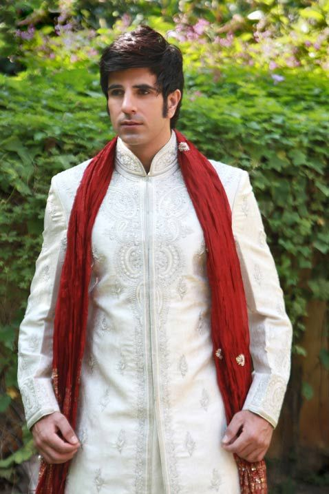Light Cream Banarasi Handloom Silk Readymade Sherwani Online Shopping: MJM212