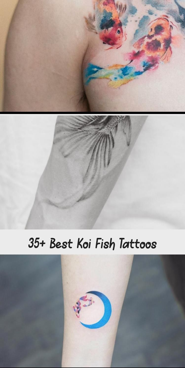 Semi-circular koi fish tattoo by Anastasia Slutskaya