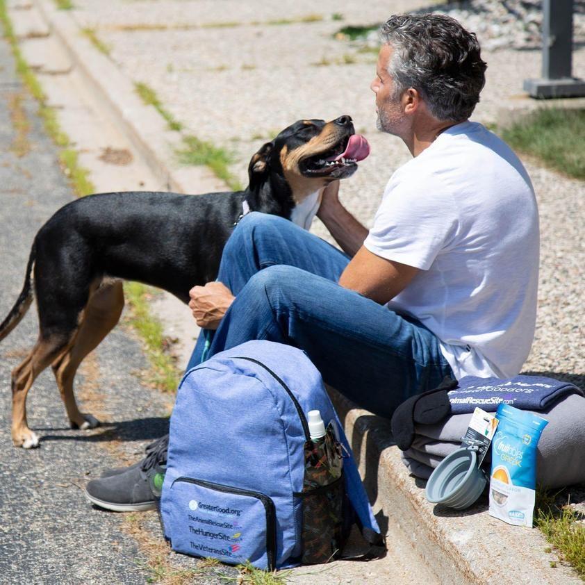 Care packs for homeless veterans their pets
