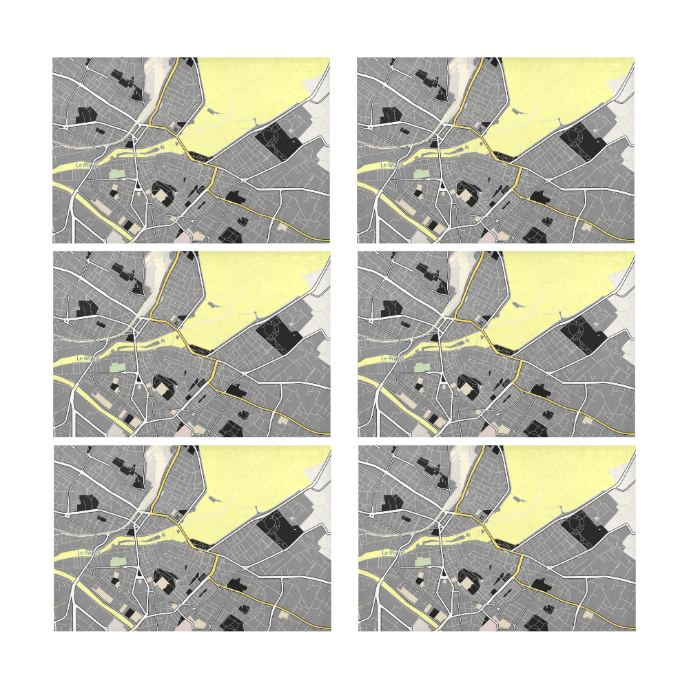 Map Of Geneva Platine Sun Placemats 12 X 18 Set Of 6 Beammehome Com Yellow Placemats Placemats Settings