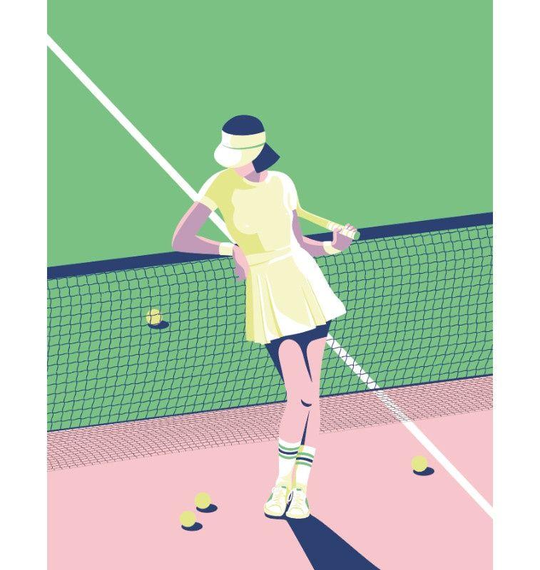 Illustration Laurence Bentz Tennis 1 Jpg Laurence Bentz Virginie Sport Illustration Tennis Art Tennis Drawing