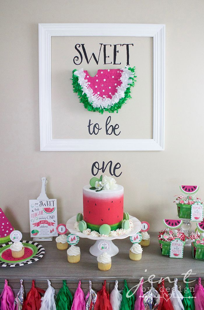A Watermelon First Birthday Party With Cricut Kids Party