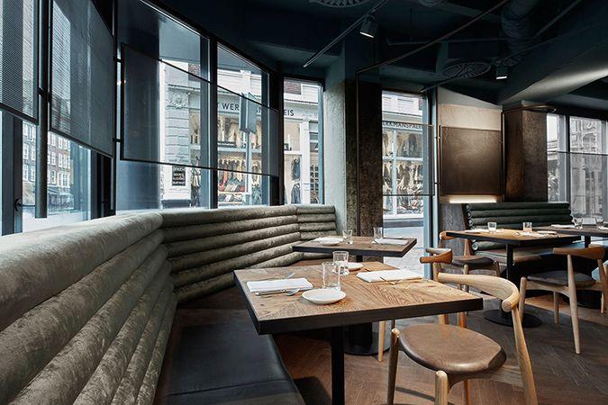mid century modern restaurant wyers miss louisa caf in amsterdam