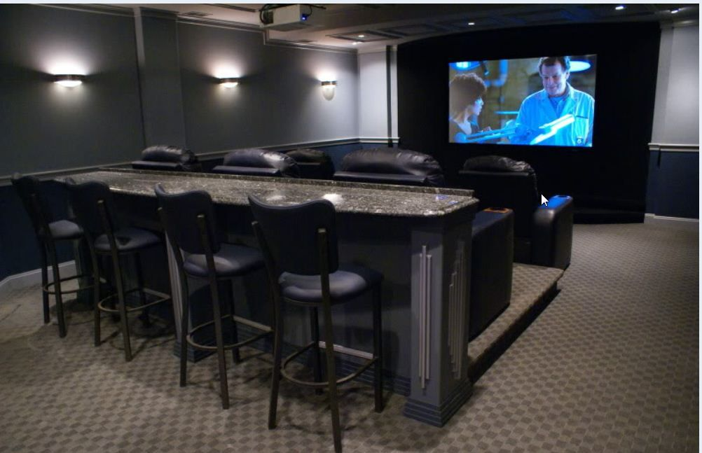 Bar Behind Couch Small Home Theaters Home Theater Lighting