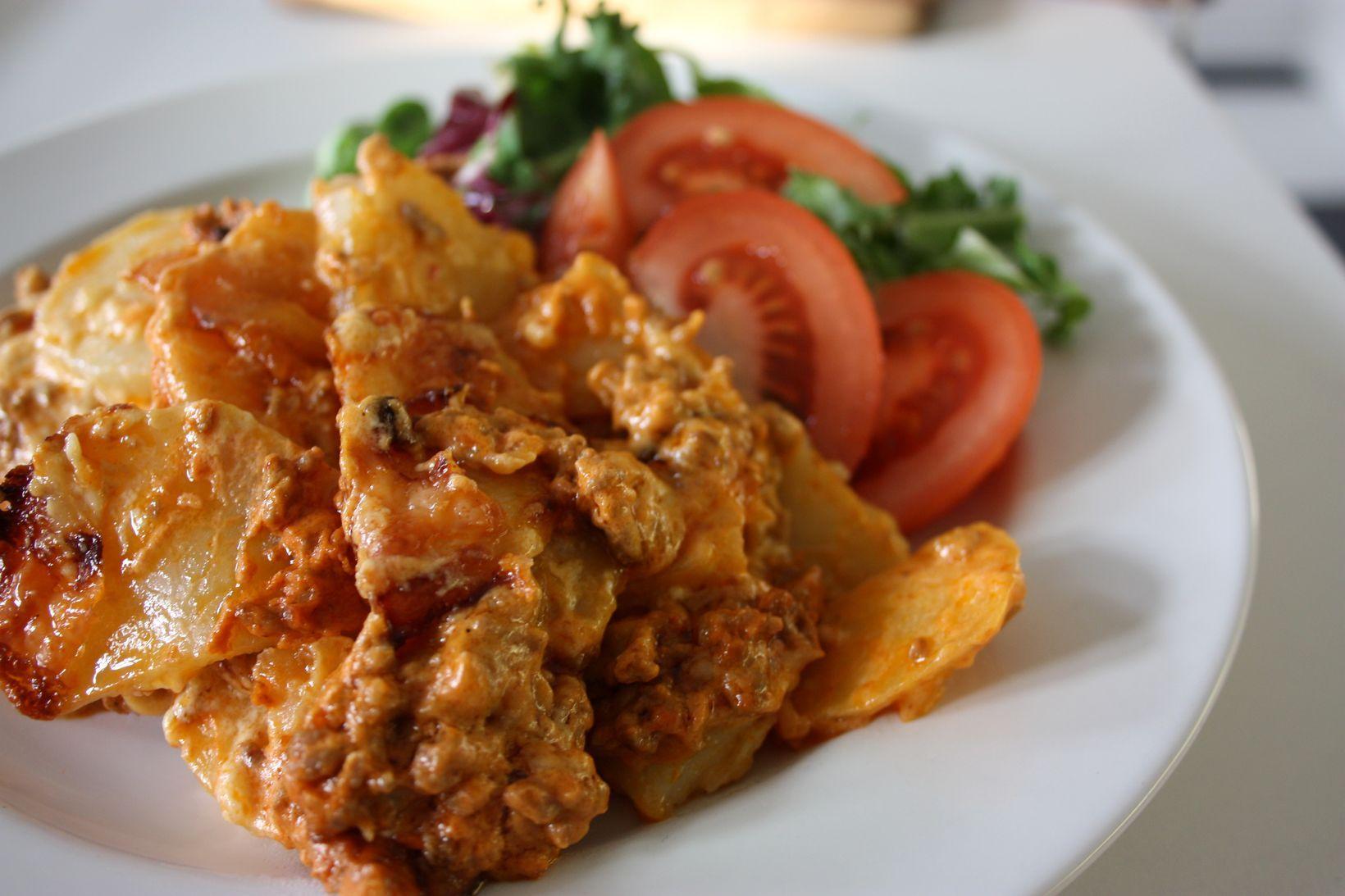 köttfärs och potatis