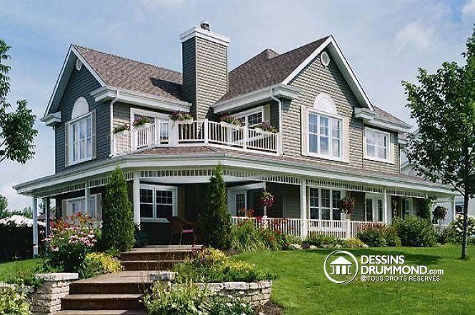 Plan de maison unifamiliale oliveraie no 3873 maison for Model de maison americaine