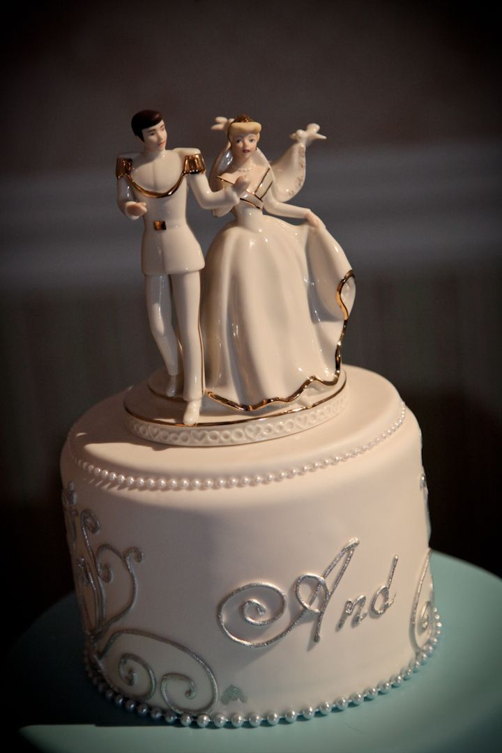 Cinderella prince charming cake topper disney wedding