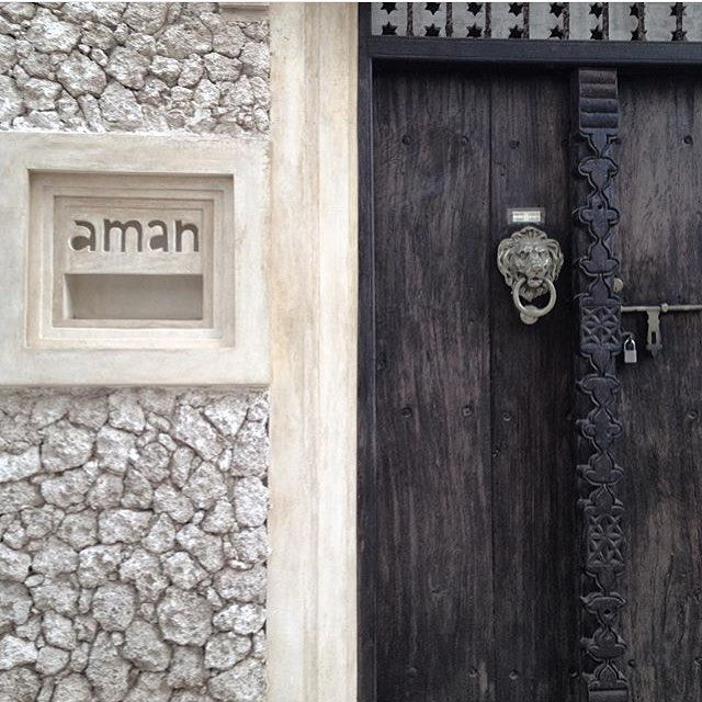 aman beautiful entry to a boutique in shela village lamu island pic from