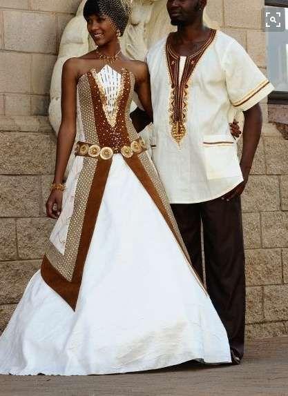 322ba4046 Vestidos de novia estilo África  fotos diseños - Vestidos para los novios  en blanco y marrones