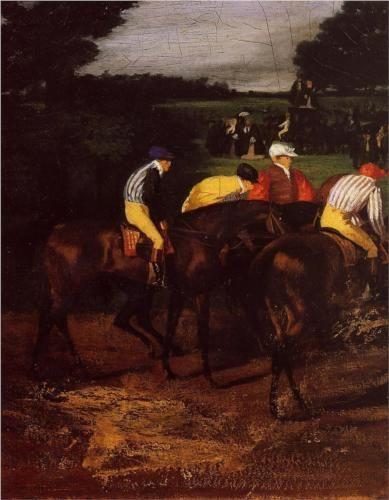 Jockeys at Epsom -( 1861-1862) Edgar Degas, oil
