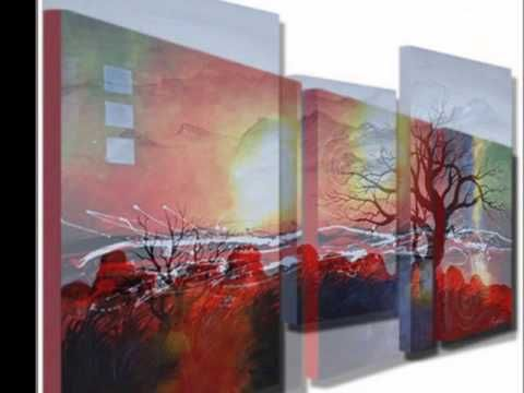 Hand painted 3 piece canvas wall art sets, welcome to visit http ...
