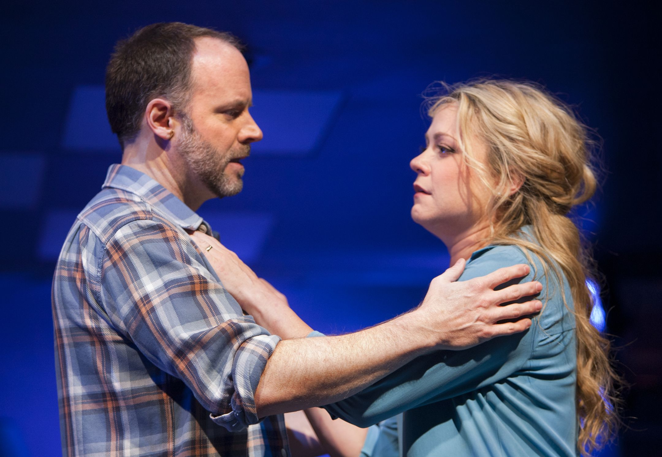 "Joe Cassidy and Kendra Kassebaum as Dan and Diana in ""Next To Normal"" at Arizona Theatre Company."