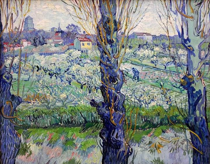 'Orchard in Blossom With View of Arles', by Vincent Van Gogh