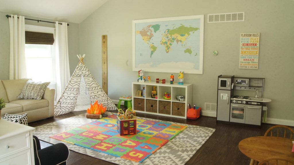 Our Office Playroom Combo Revealed Hams At Home Living Room Playroom Playroom Living Room Combo Office Playroom Combo