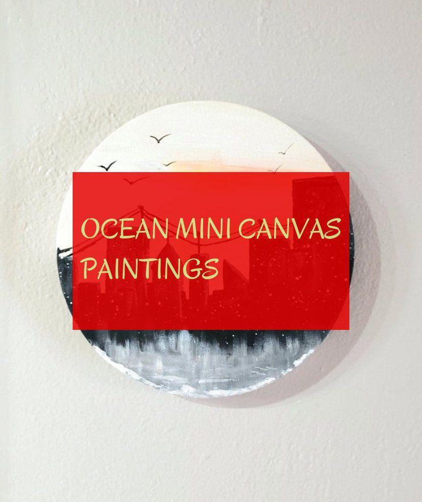 Ocean mini canvas paintings