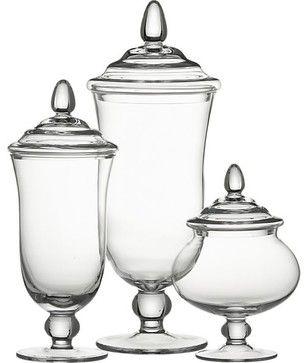 Bon Apothecary Jars For Toiletries In Bathroom (cotton Balls, Q Tips, Etc.)
